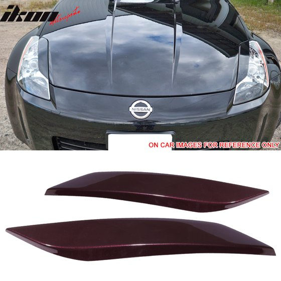 Fit 03 08 Nissan 350z 2dr Unpainted Headlight Eyelids Eyebrows Cover