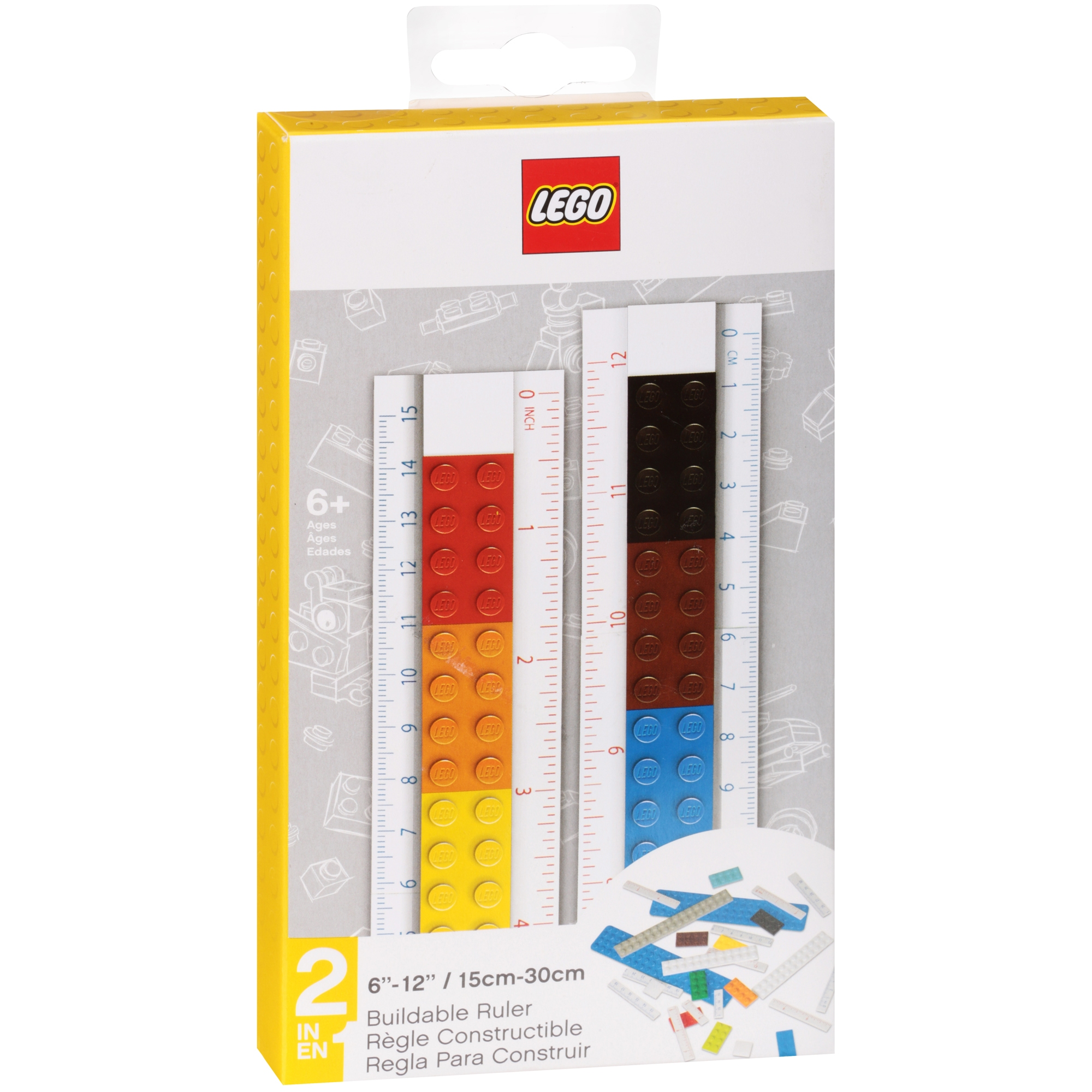 "Lego® 6""–12"" Buildable Ruler 2 pc Box"
