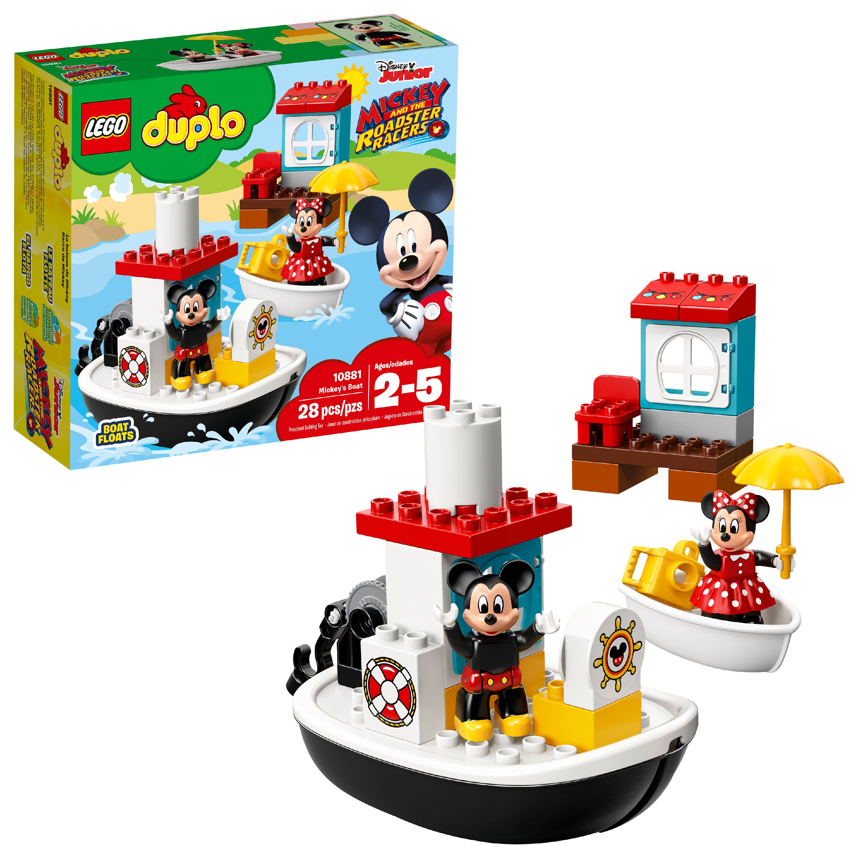 LEGO DUPLO Disney TM Mickey's Boat 10881 Building Set (28 Pieces)