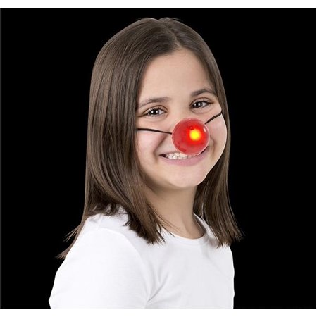 Holiday Reindeer Nose Light Up Blinking Clown Prop Costume Accessory - Latex Clown Nose