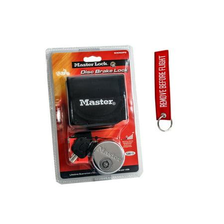 Master Disk Lock Motorcycle Brake Safety Security Key Keychain Dirt Bike Cruiser