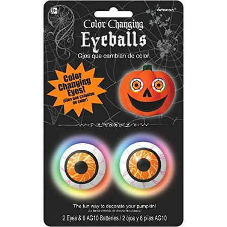 Color-Changing Pumpkin Eyeball - Halloween Eyeball Lights