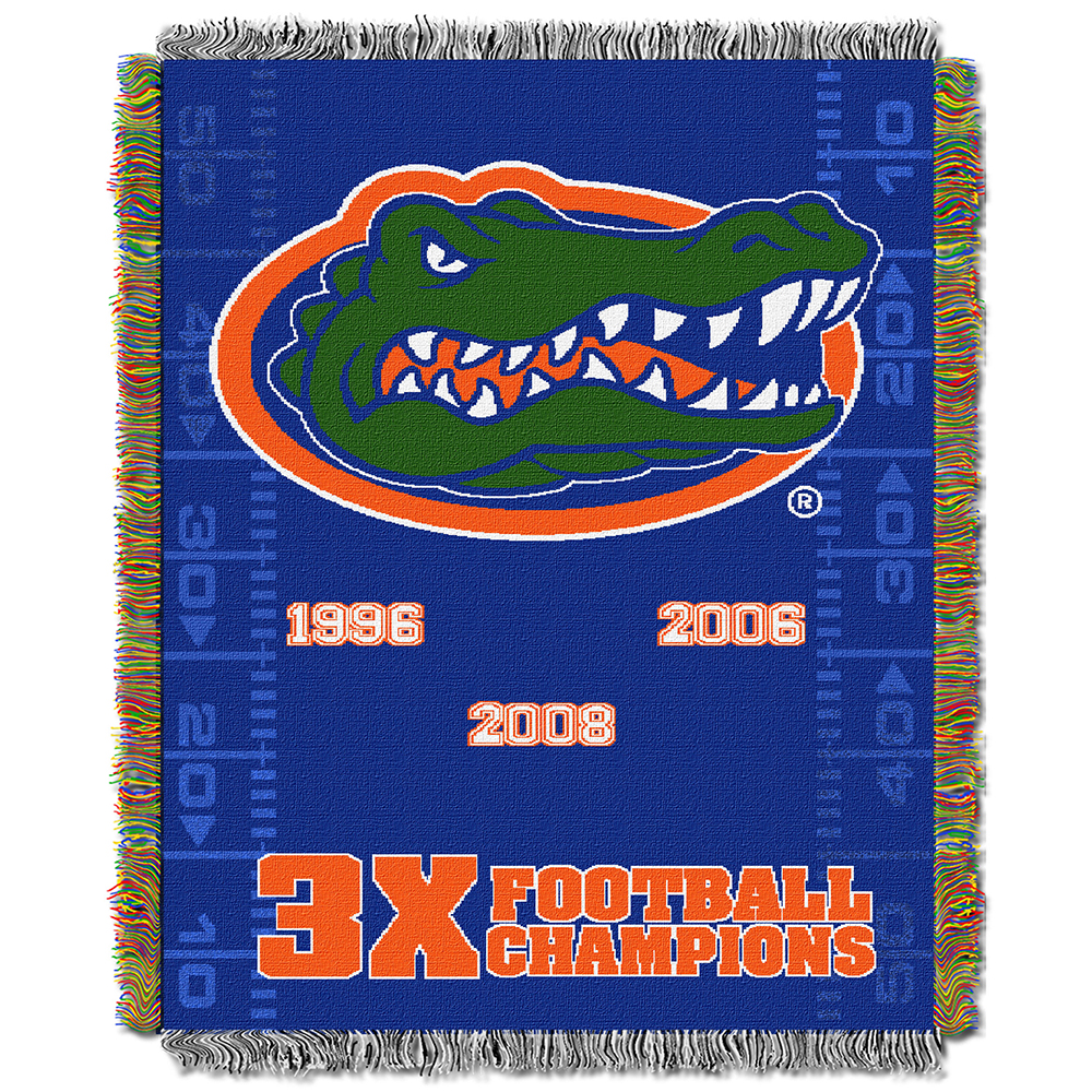 "Florida OFFICIAL Collegiate, Commemorative 48""""x 60"""" Woven Tapestry Throw by The Northwest Company"