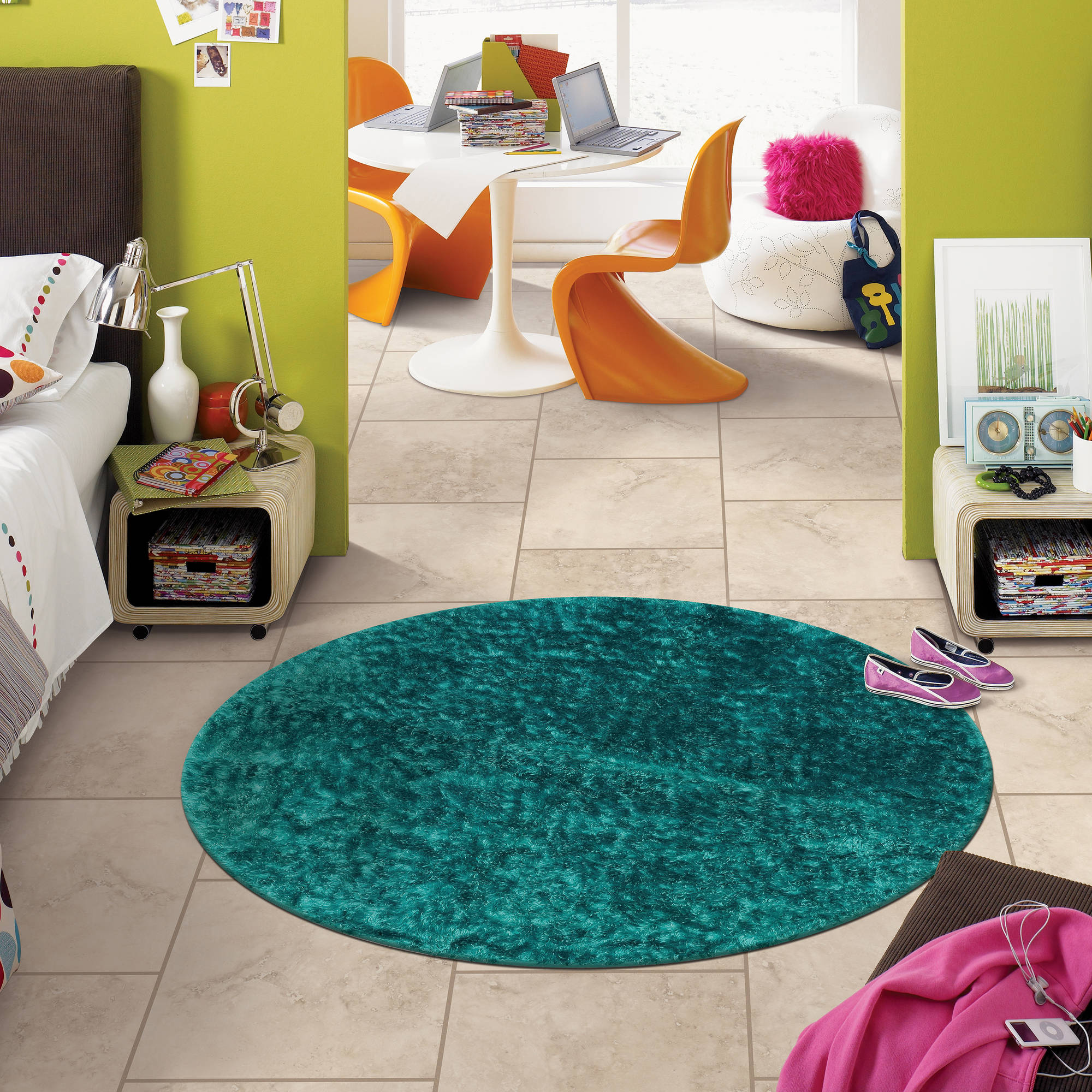 Mohawk Home Your Zone Round Shag Rug