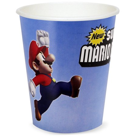 Super Mario Brothers Party Supplies 24 Pack Paper Cups - Mario Brothers Decorations