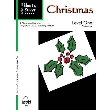 SCHAUM Short & Sweet: Christmas (Level 1 Elem Level) Educational Piano Book ()