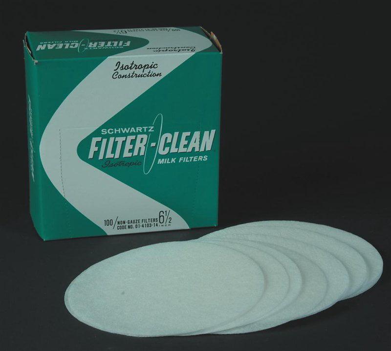 "Schwartz Filter Disks 6.5/"" 100 Count Box Non-Gauze Milk Filters"