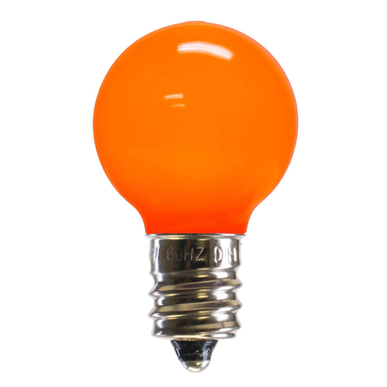E12 Led Walmart: Vickerman G30 Orange Ceramic LED Replacement Bulb E12 .96W
