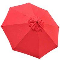 10' 8 Rib Umbrella Replacement Cover Canopy Patio Outdoor Market Top