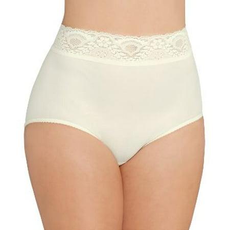 Bali Womens Lacy Skamp Brief Style-2744 Skamp Nylon Brief Panties