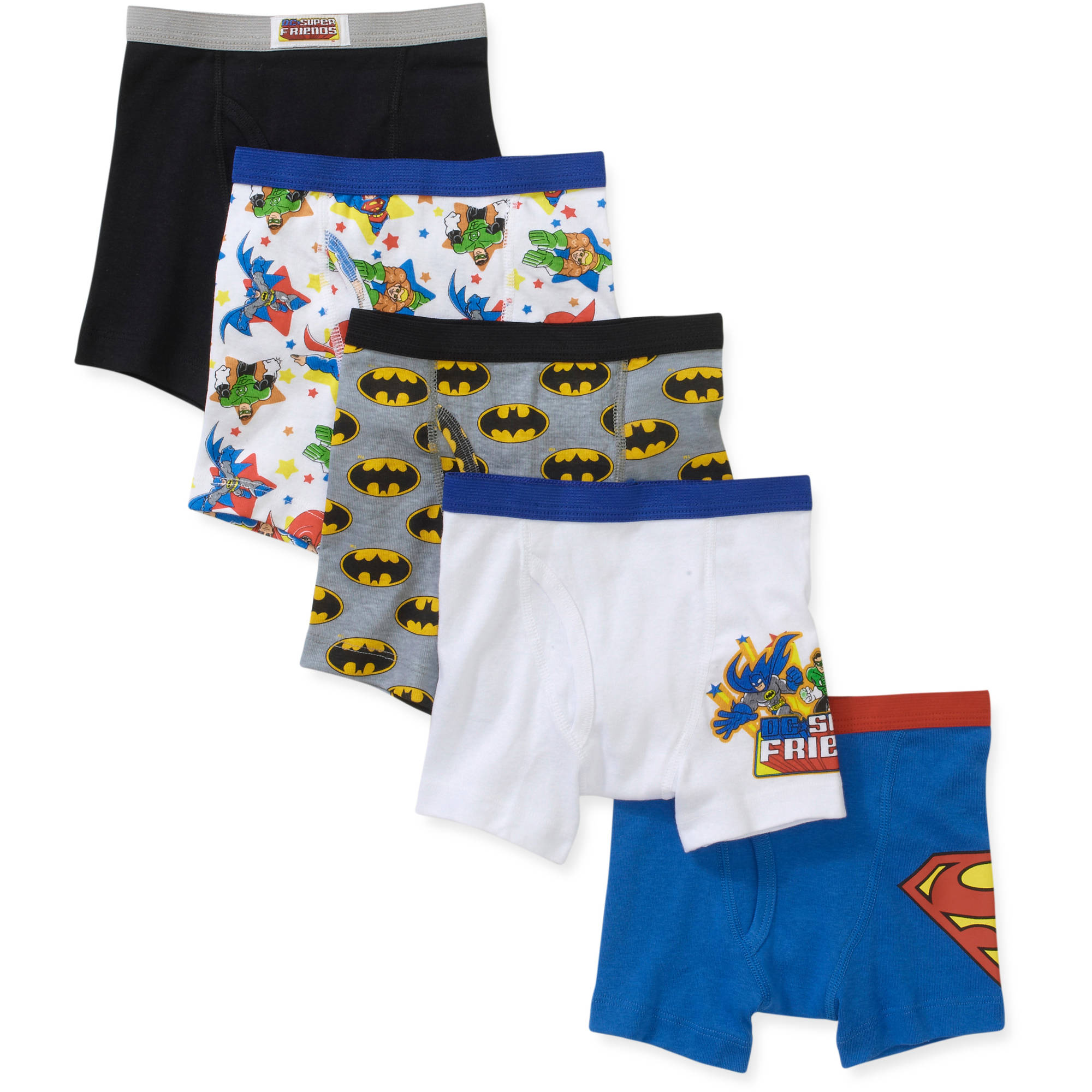 Super Friends Toddler Boys Boxer Briefs, 5 Pack