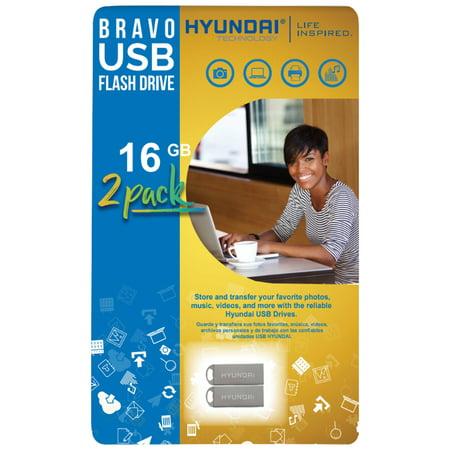 d9db8711f7157d Hyundai Technology U2BK/16GD 16GB Bravo Keychain USB 2.0 Flash Drive, 2 Pk  - Walmart.com