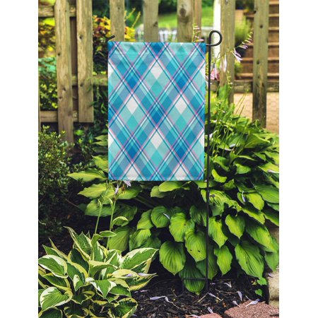 POGLIP Pattern Baby Boy Blue Pastel Color Plaid Tartan Abstract Bright Garden Flag Decorative Flag House Banner 28x40 inch - image 2 of 2