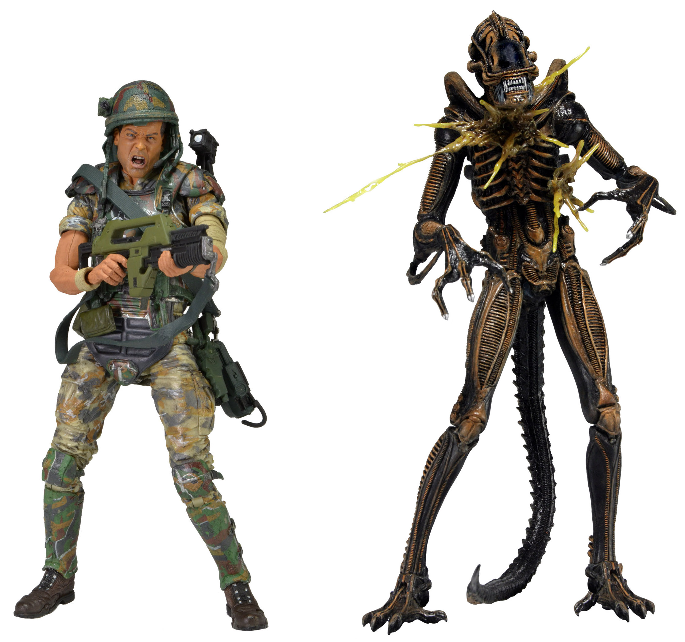 Aliens Hudson vs Brown Warrior 7in Action Figure 2pk by