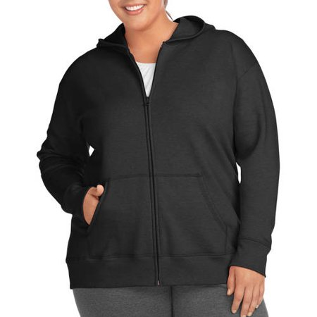 fdf32bacbc4 Just My Size - Women s Plus-Size Full Zip Fleece Hoodie - Walmart.com
