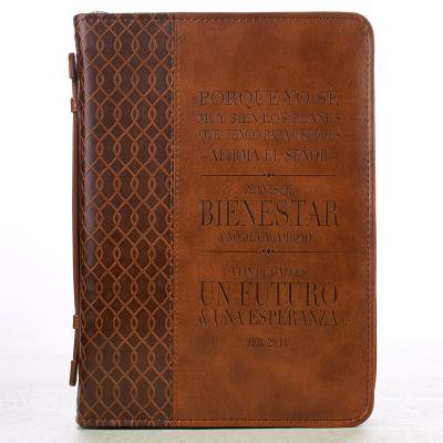 Jeremiah 29:11 Two-tone Bible / Book Cover - Forro para Biblia (Large) (Spanish Edition) (English and Spanish Edition) (Forros Para Asientos De)