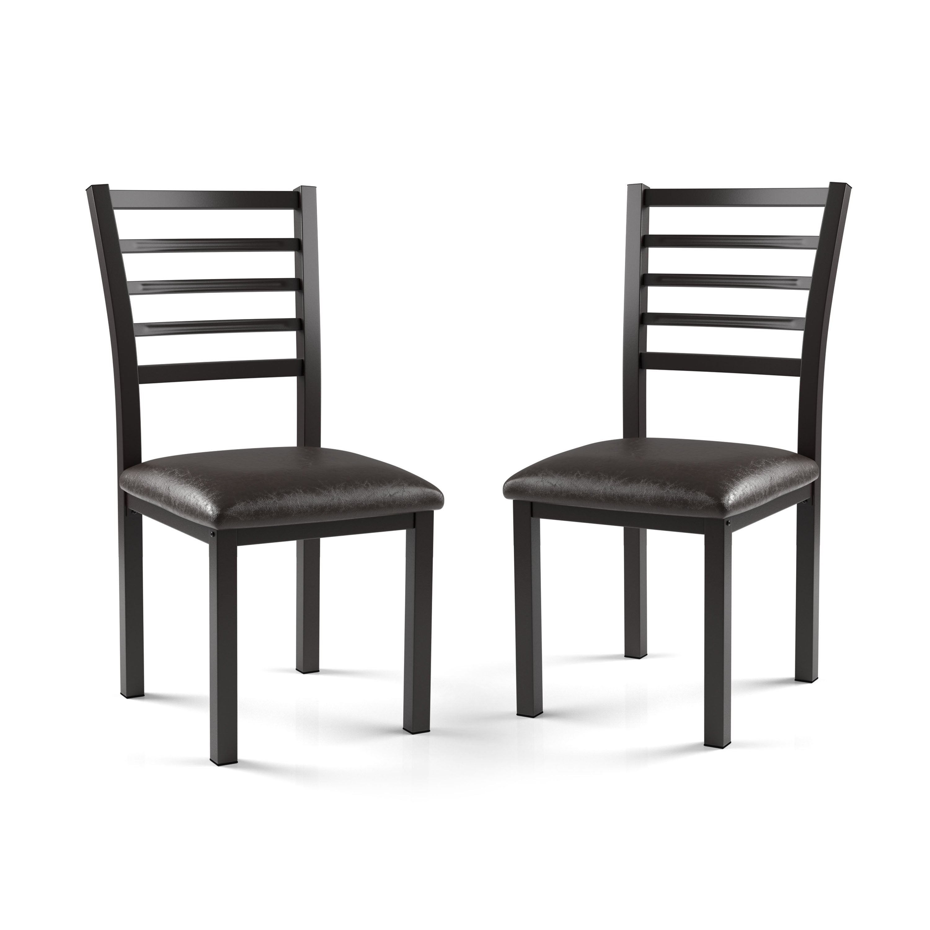 Xavier Leatherette Dining Chair Black: Furniture Of America Rath Contemporary Black Leatherette