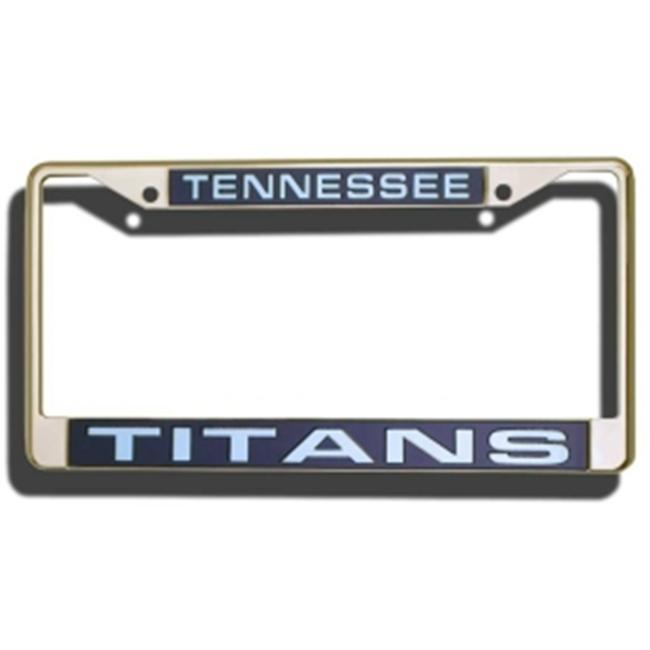Tennessee Titans Laser Cut Chrome License Plate Frame
