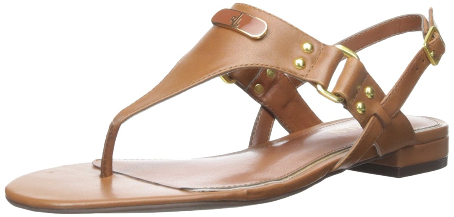 LAUREN by Ralph Lauren Womens Casual Valinda Leather Split Toe Casual Womens T-Strap Sandals b1ff14