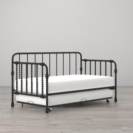 Little Seeds Wren Metal Daybed Trundle Twin Black