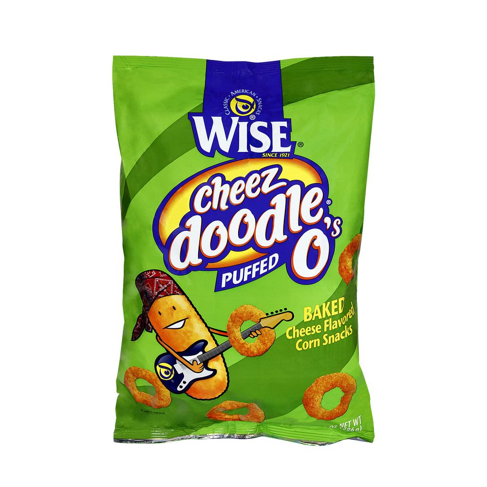 Wise Cheeze Doodle O's Puffed Corn Snacks, 8.0 OZ
