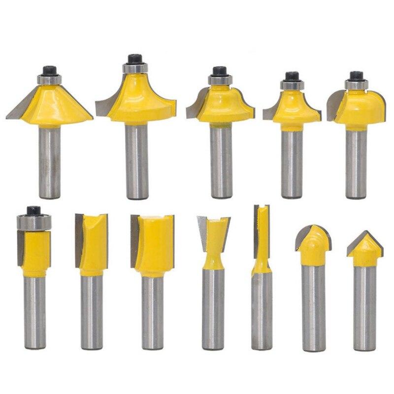 12PCS Pro Milling Cutter Set 8mm Shank Router Bit Woodworking Tool Kits Carbide