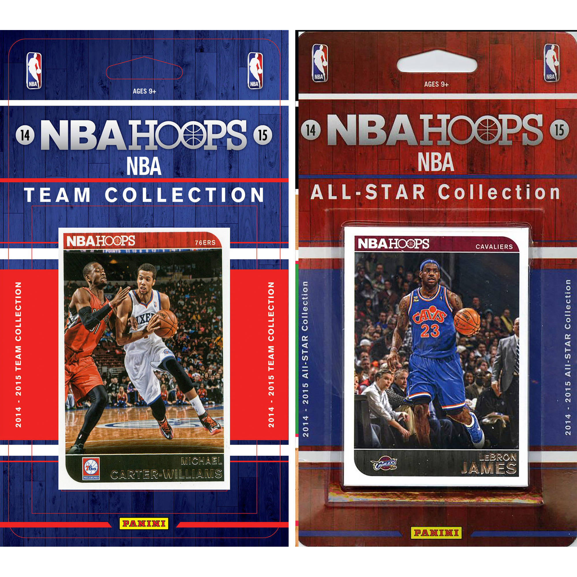 C&I Collectables NBA Philadelphia 76ers Licensed 2014-15 Hoops Team Set Plus 2014-15 Hoops All-Star Set