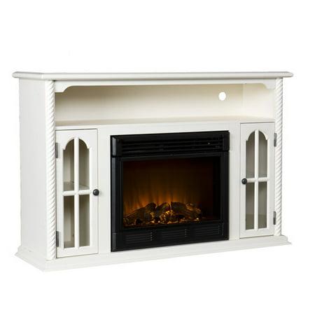 parkwood electric fireplace media console antique white. Black Bedroom Furniture Sets. Home Design Ideas