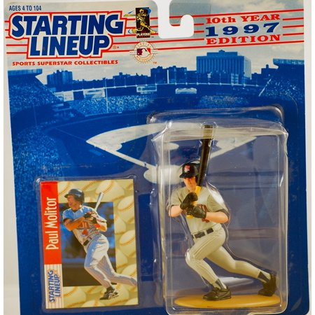 10th Year 1997 Edition Paul Molitor Figurine & Card Baseball Collectable New still sealed, Kenner - Starting Lineup - 10th Anniversary - MLB By Starting Lineup 1988 Starting Lineup Cards