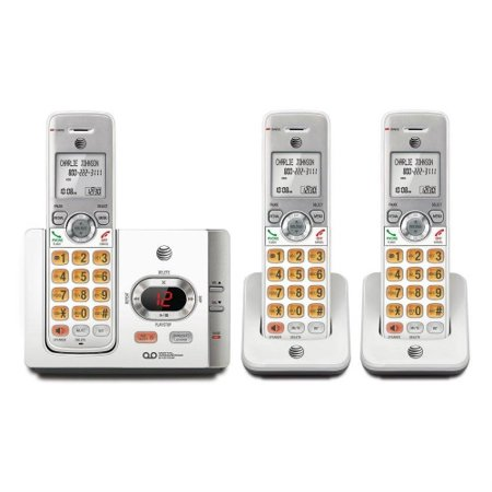 3 Cordless Phone System - AT&T EL52345 3 Handset Cordless Phone with Answering System with caller ID/Call Waiting