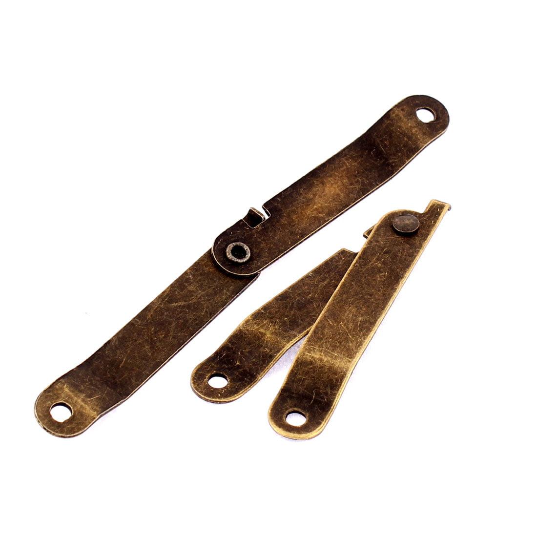 Gift Box Vintage Style Rotatable Folding Lid Support Hinge Bronze Tone 2pcs