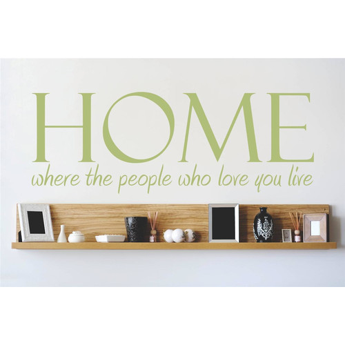 Design With Vinyl Home Where the People Who Love You Live Wall Decal
