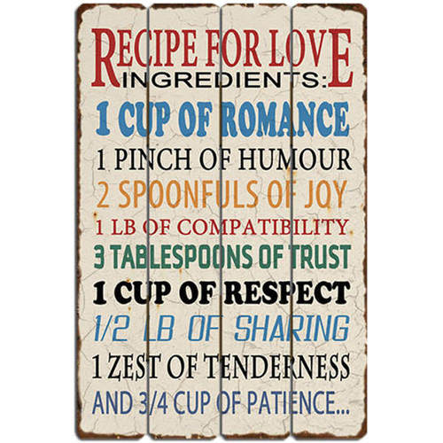 Bay Accents Recipe for Love Wall D cor