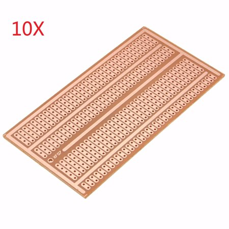 1/5/10 Pcs Single Side Copper Prototype Paper Bakelite Solderless Breadboard 2-3-5 joint holes - Universal PCB Panel - Electronic Communication Components -  4 x 2 inches