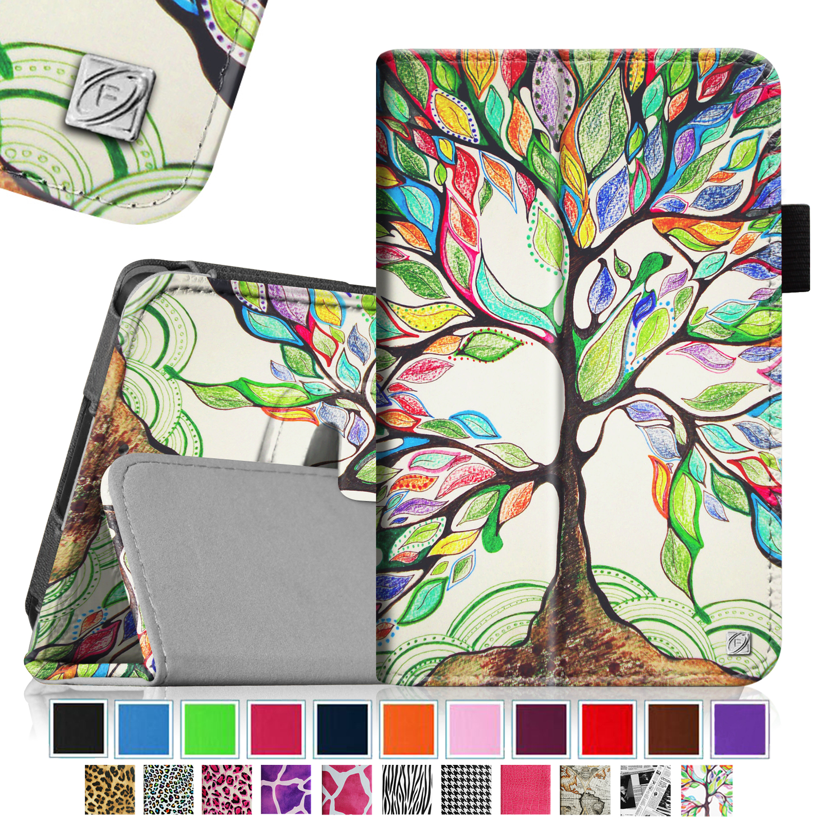 Fintie Kindle Fire HD 6 Tablet (2014 Oct Release) Case - Slim Fit Leather Stand Cover with Sleep/Wake Feature, Love Tree