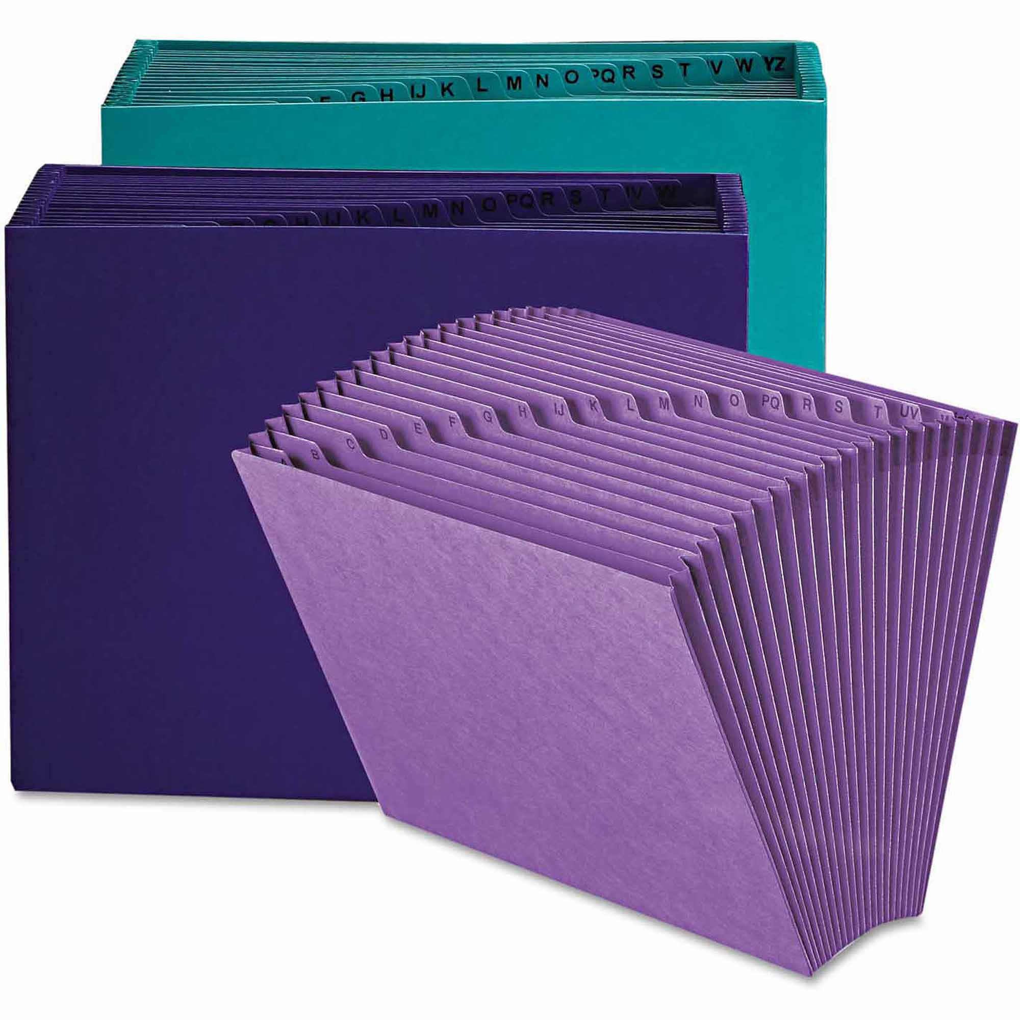 Smead Heavy-Duty A-Z Open Top Accordion Expanding Files, 21 Pockets, Letter, Teal