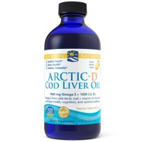 Nordic Naturals Arctic-D Cod Liver Oil Liquid, Lemon, 1060 Mg, 8 Oz