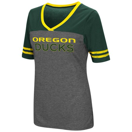 Ladies Colosseum Mctwist University of Oregon Ducks Jersey T Shirt