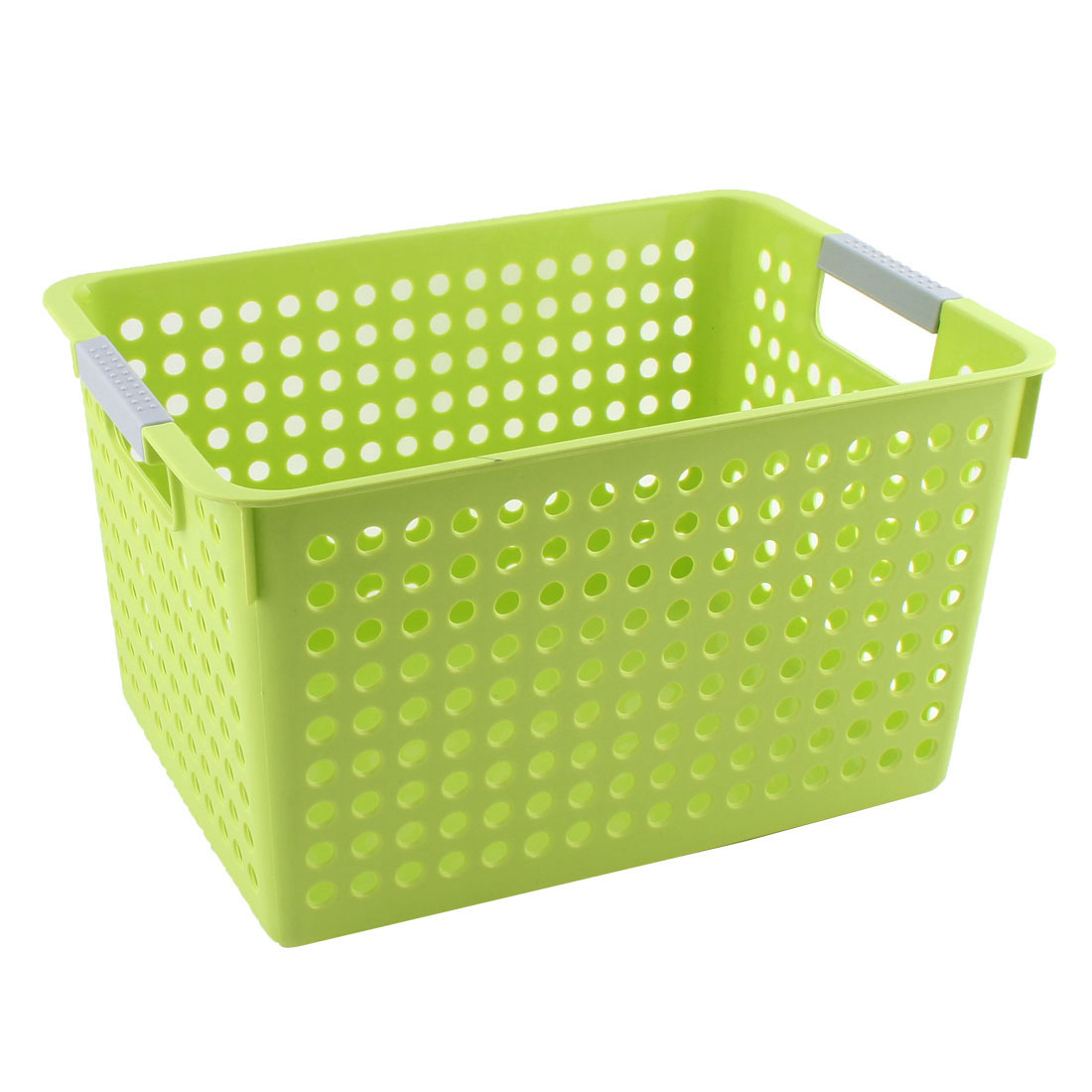 Household Bathroom Plastic Hollow Out Design Storage Basket Organizer Green