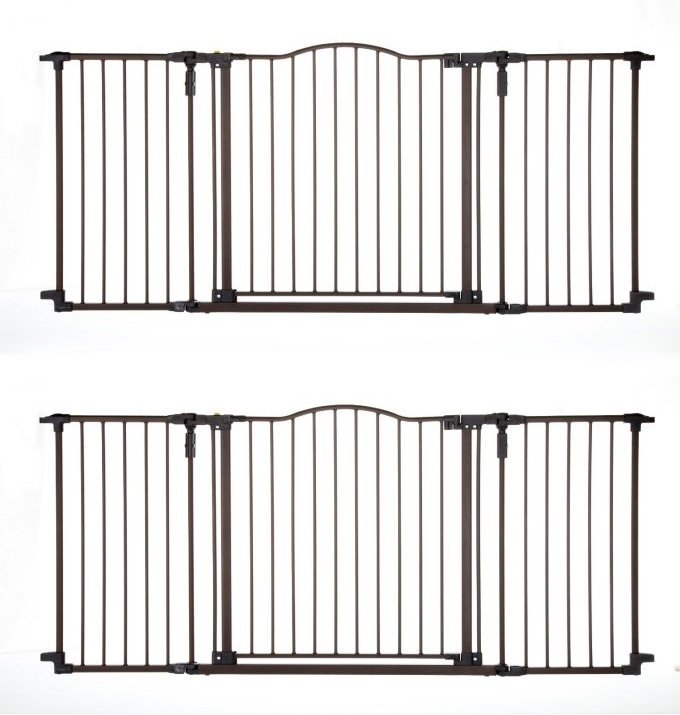 North States Deluxe Decor Baby/Pet Metal Gate - Matte Bronze | 4934 (2-Pack)