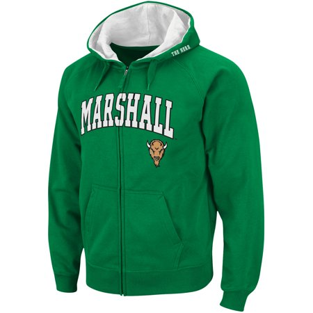 Stadium Thunder (Marshall Thundering Herd Stadium Athletic Arch & Logo Full Zip Hoodie - Kelly)