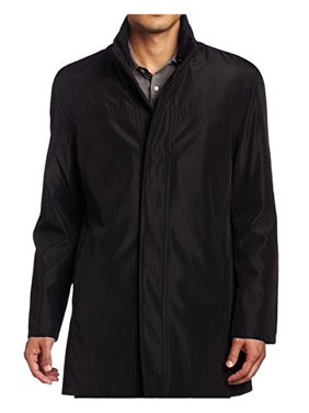 Kenneth Cole Reaction Men's Bonded Poly Car Coat, Black, Large
