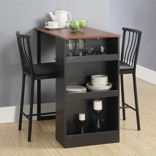 Bar Table For Kitchen: Bistro 3 Piece Dining Set Dinette Table Chairs Nesting Pub