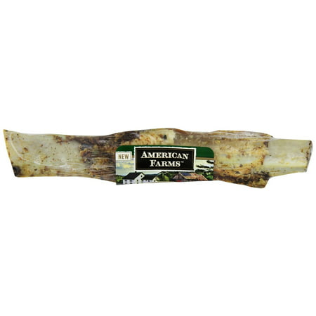 Image of American Farms 481039 25 Count Bulk Natural Beef Rib Bone For Pets