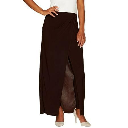 Attitudes Renee Jersey Knit Sarong Skirt Leggings