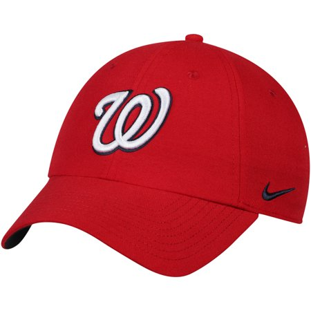 a8191a28d95 Washington Nationals Nike Heritage 86 Stadium Performance Adjustable Hat -  Red - OSFA - Walmart.com