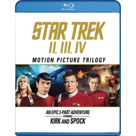 Star Trek Motion Picture Trilogy  Ii  Iii  Iv  Celebrating The 50Th Anniversary   Blu Ray
