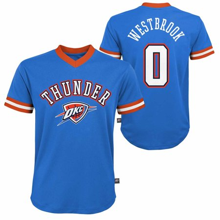 Oklahoma City Thunder Youth Russell Westbrook NBA Fashion V-Neck Jersey Top - Blue