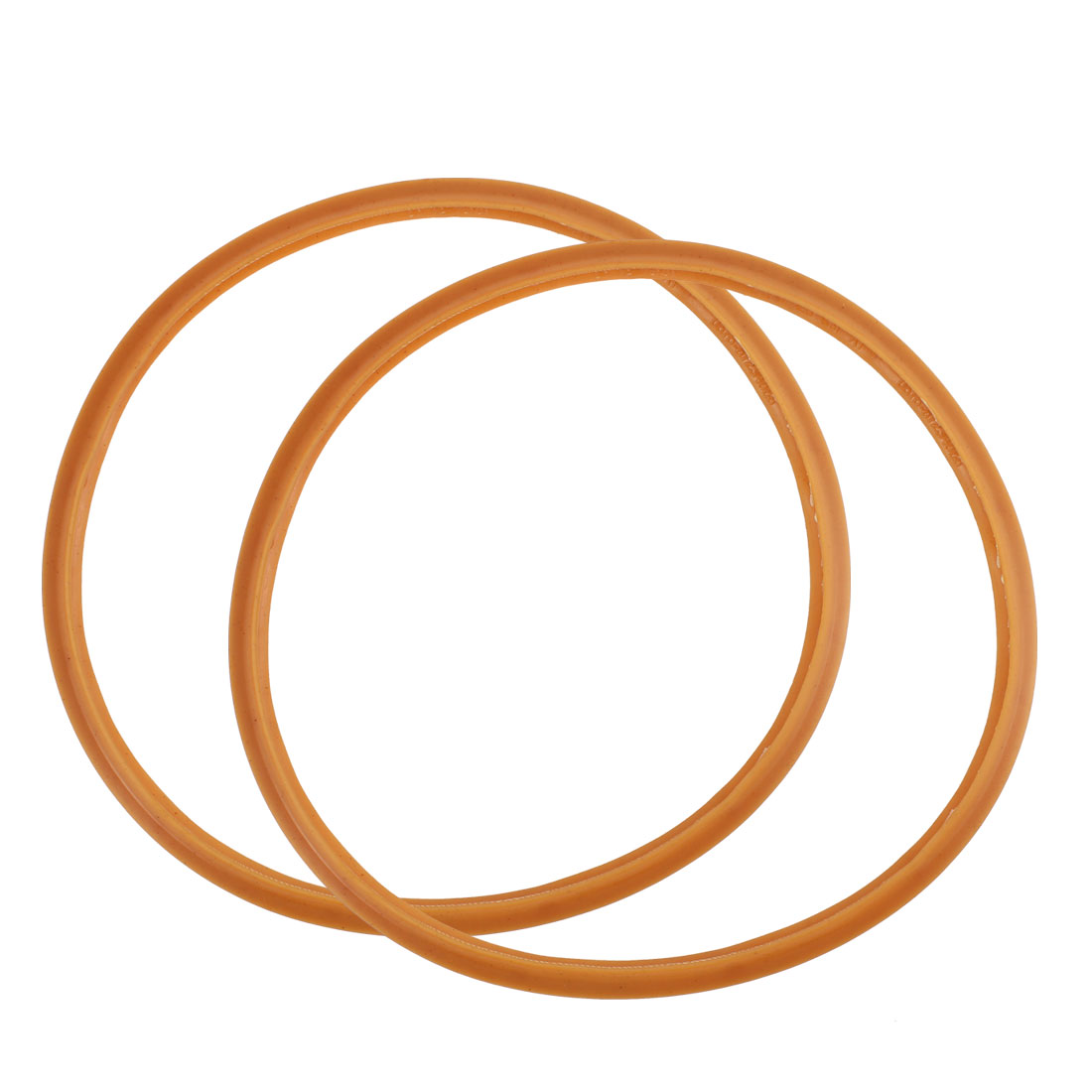 Home Pressure Cooker Rubber Gasket Sealing Ring Brown 18cm Inner Dia 2pcs