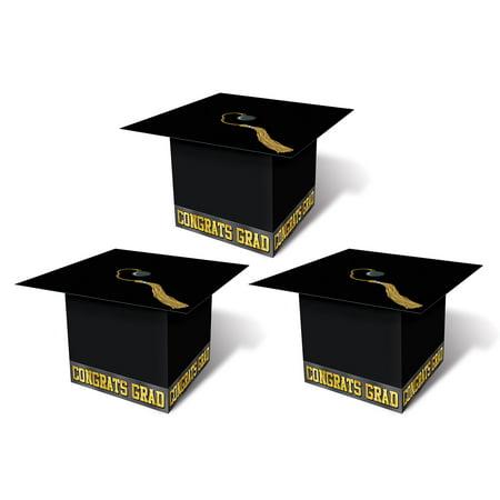 Beistle Grad Cap Graduation Party Favor Supplies 3.25